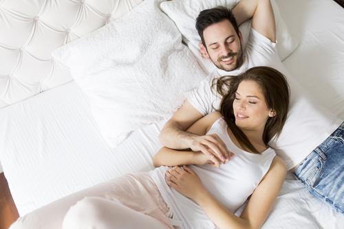 Ontspannen in bed